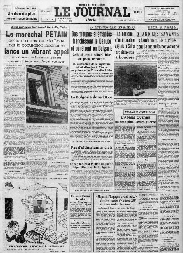 Le Journal 17665 -2 mars 41