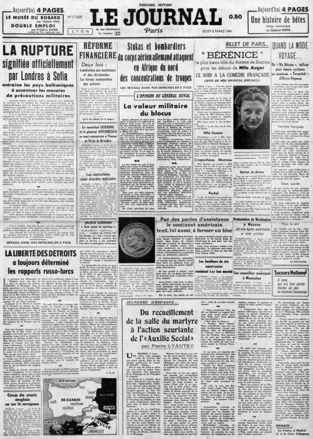 Le Journal 17769 6 mars 1941