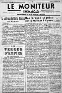 Le Moniteur Viennois 6 décember 1941