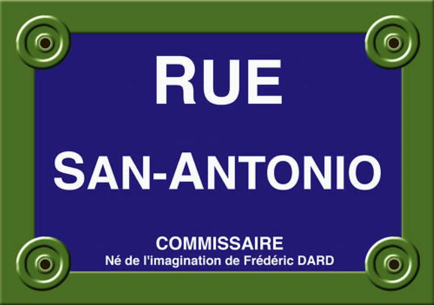 Plaque de rue Frédéric Dard