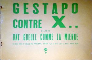 dossier presse Gestapo contre X