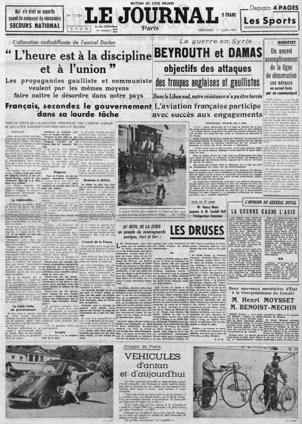 Le Journal 17764-11 juin 1941