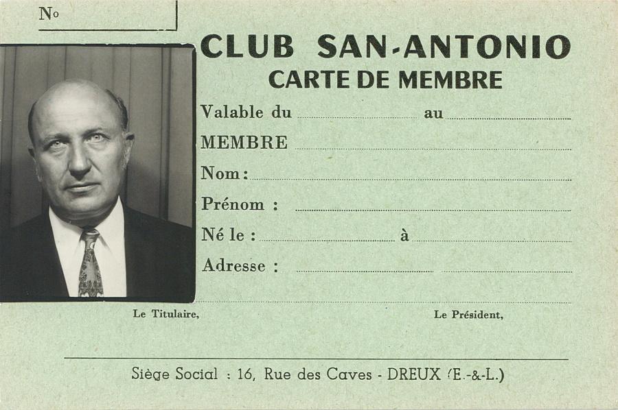Carte de membre Club San-Antonio