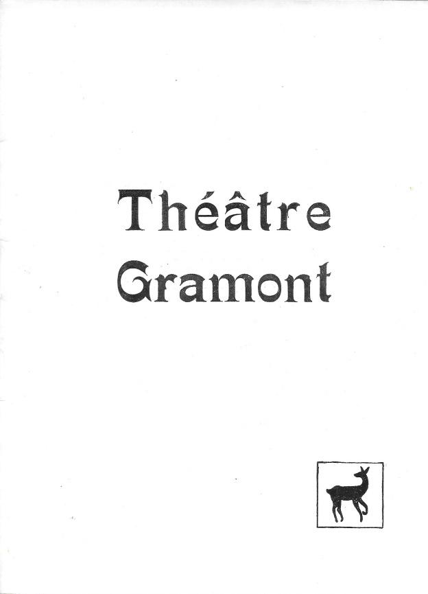 Programme théâtre Gramont 1952 Jesus la Caille