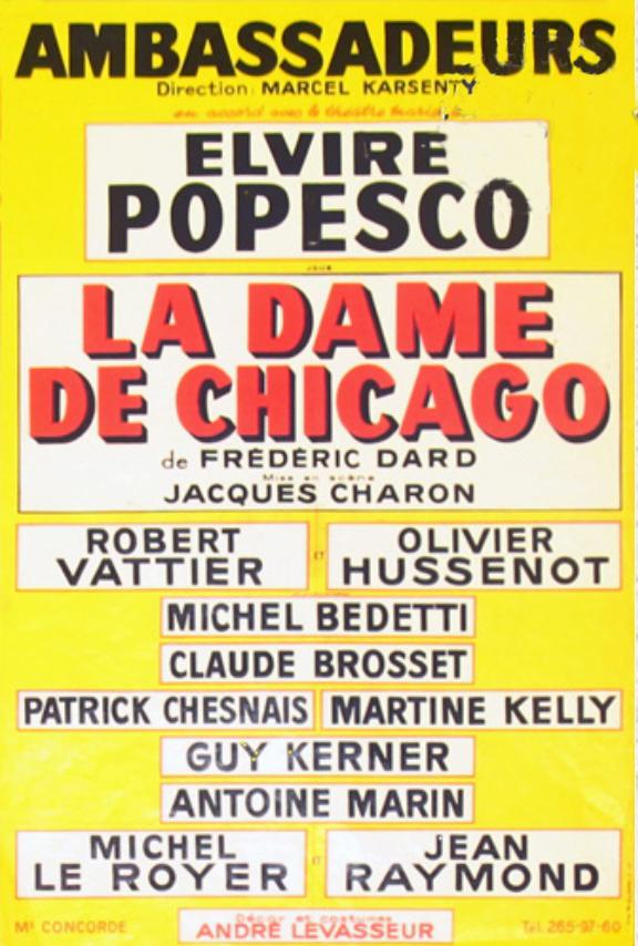Affiche theatre la dame de chicago