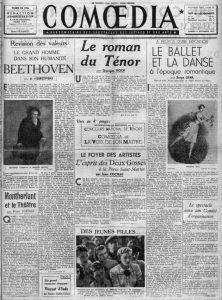 Comoedia n°25 du 6 décembre 1941