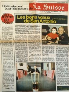 La Suisse janvier 1973