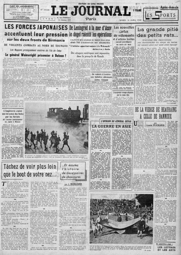 Le Journal 14 avril 1942 18038