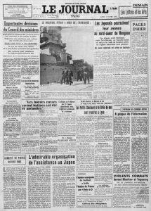 Le Journal 16 mars 1942
