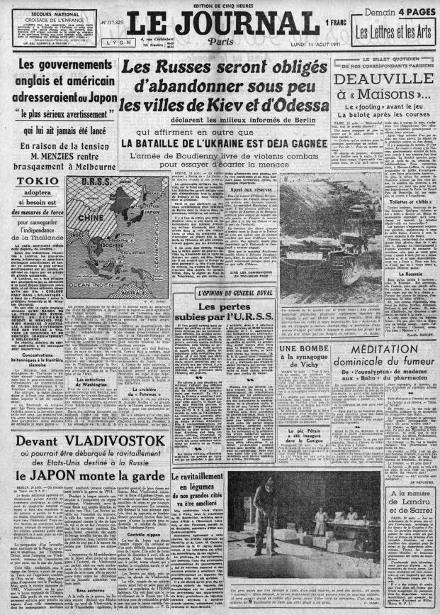 Le Journal 17825 - 11 aout 1941