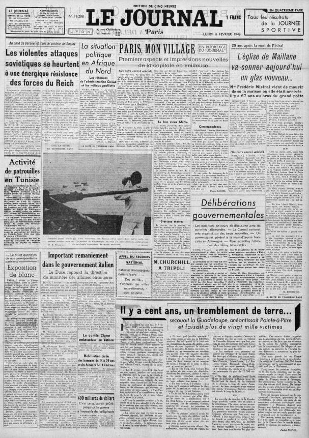 Le Journal 18286-8 fevrier 1943