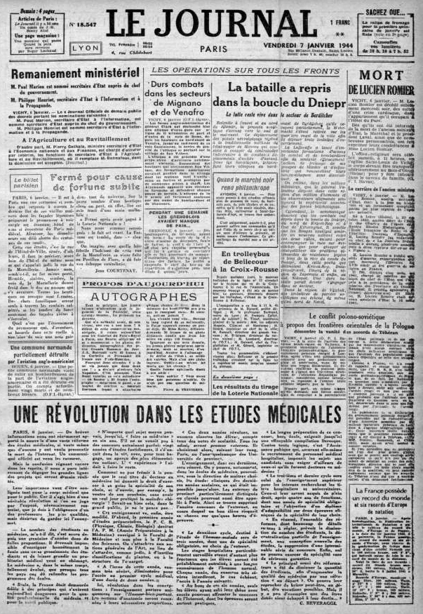 Le-Journal-7-janvier-1944 n°18547