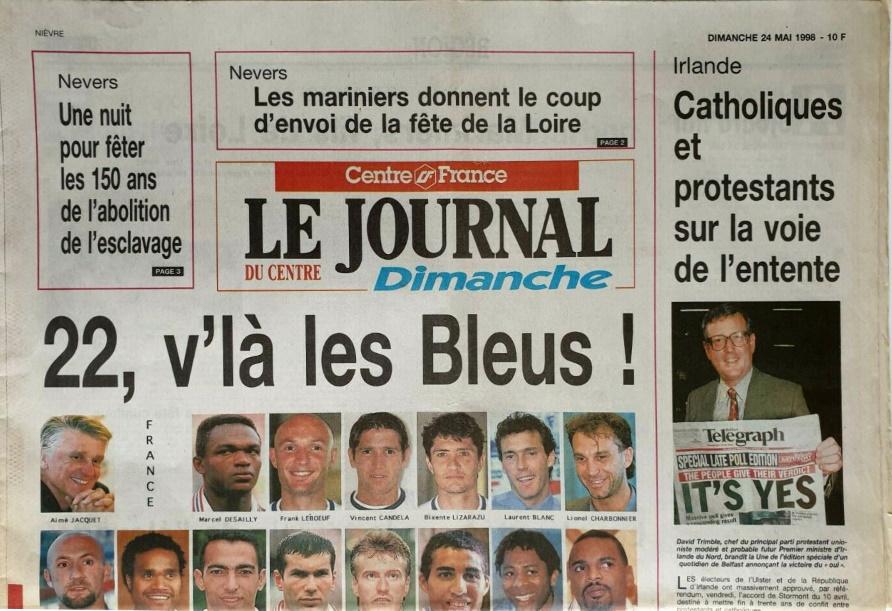 Le journal du centre 24 mai 1998