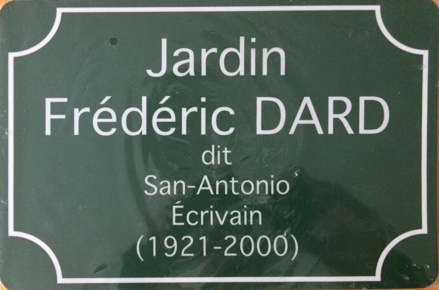 Plaque jardin Frédéric Dard