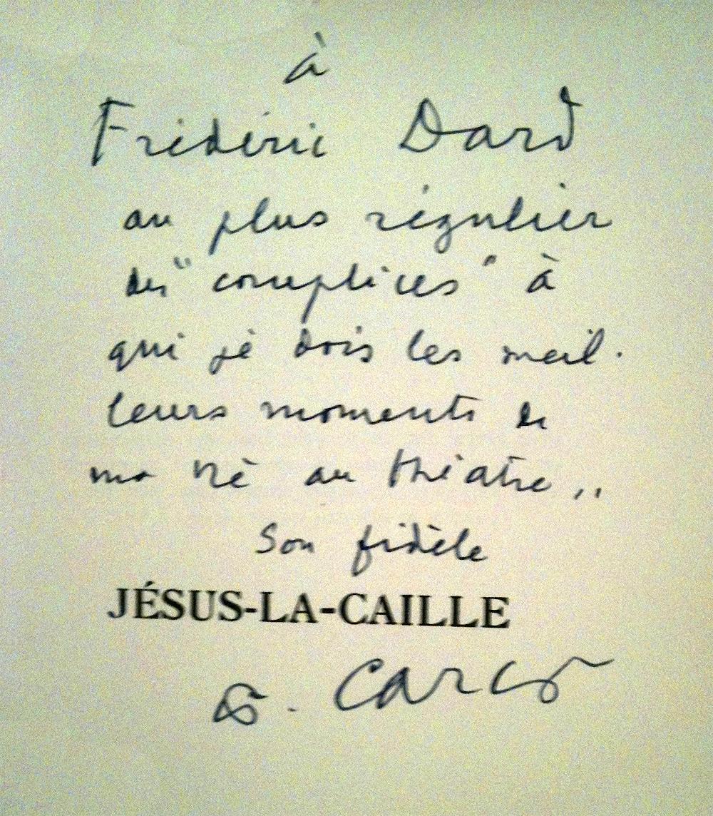 Dédicace Carco 1953