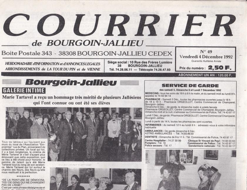 Courrier de Bourgoin-Jallieu n°49 -48ème année