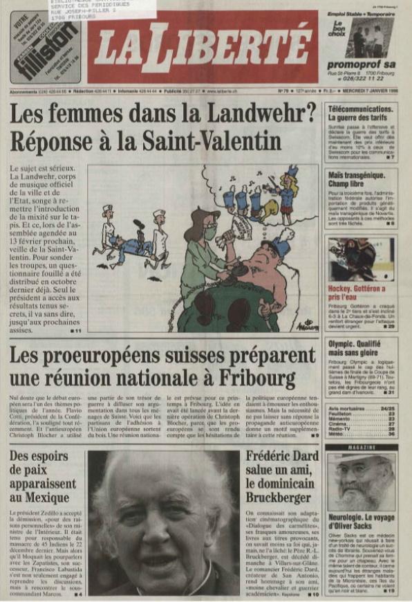 La Liberté 7 janvier 1998