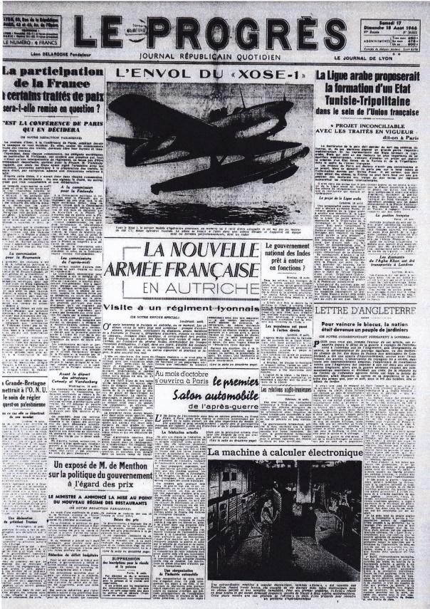 Le Progres 17 aout 1946