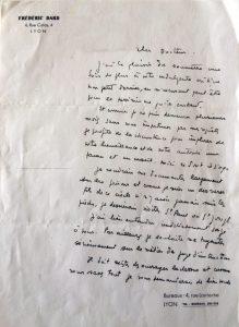 Lettre au Docteur Locard 13 mai 1946