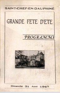programme grande fête d'été 1947