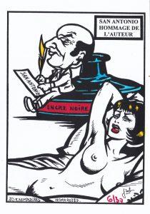 Carte postale Jihel Erotisme en couleur