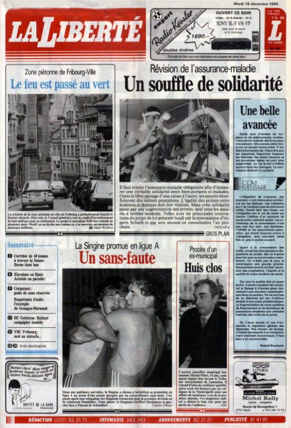 La Liberté 18 decembre 1990