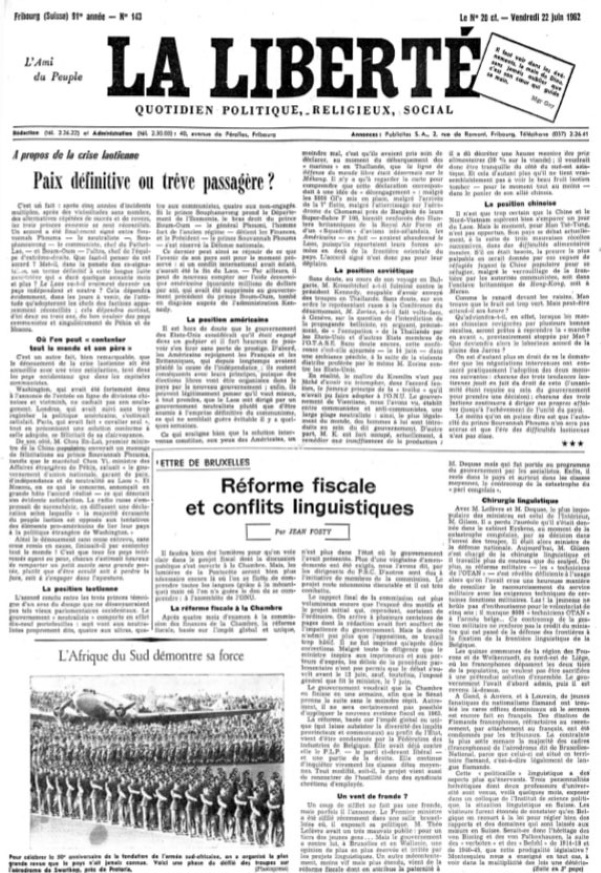 La Liberté 22 juin 1962
