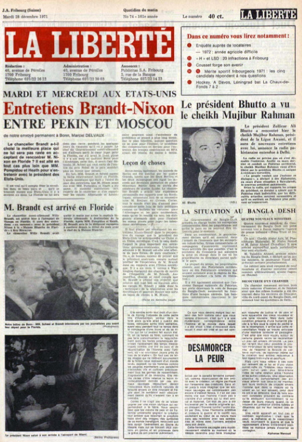 La Liberté 28 décembre 1971