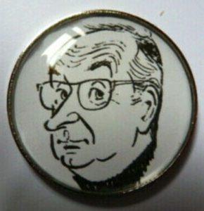Pin Henry Blanc 2,5 cm
