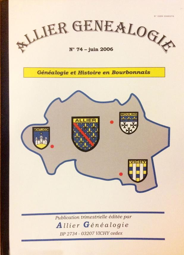 Allier Généalogie n°74