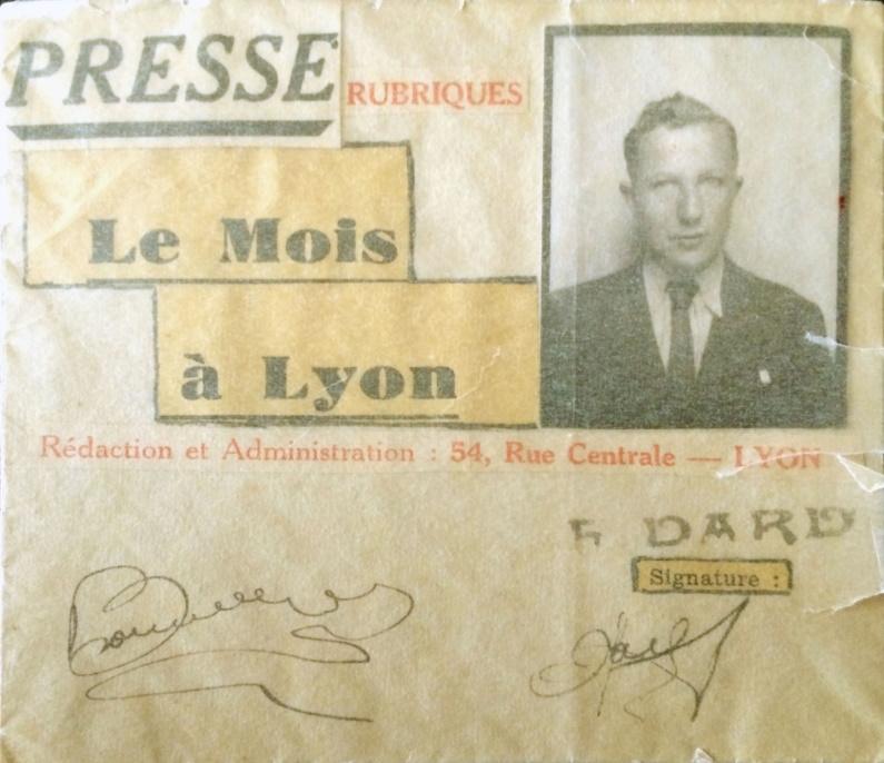 Carte de Presse Le Mois à Lyon