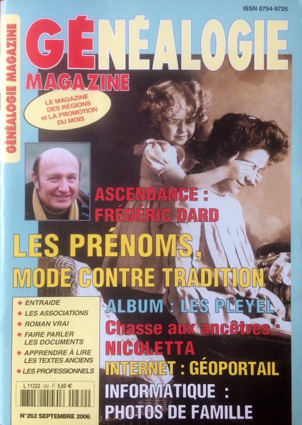 Généalogie magazine n°262