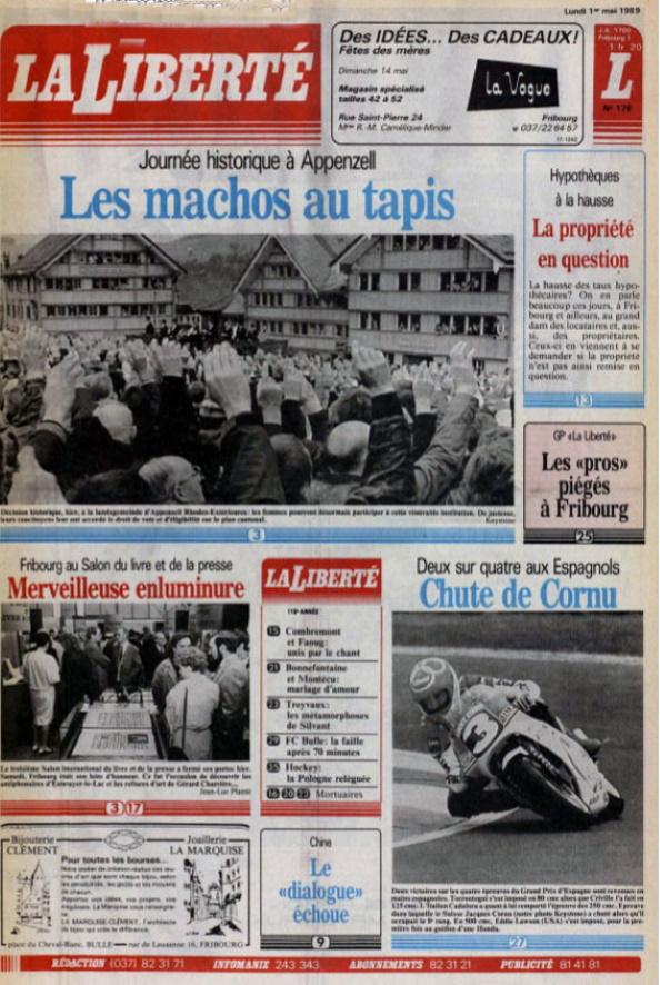 La Liberté 1er mai 1989