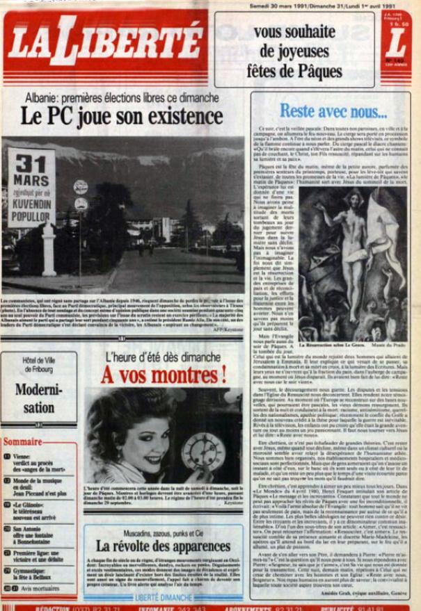 La Liberté 30 mars 1991