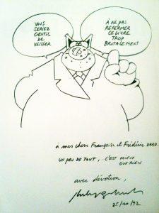 Dédicace Geluck 1992 Un peu de tout