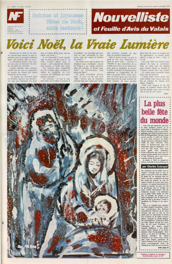 Nouvelliste et feuille d'avis du Valais 24 decembre 1974