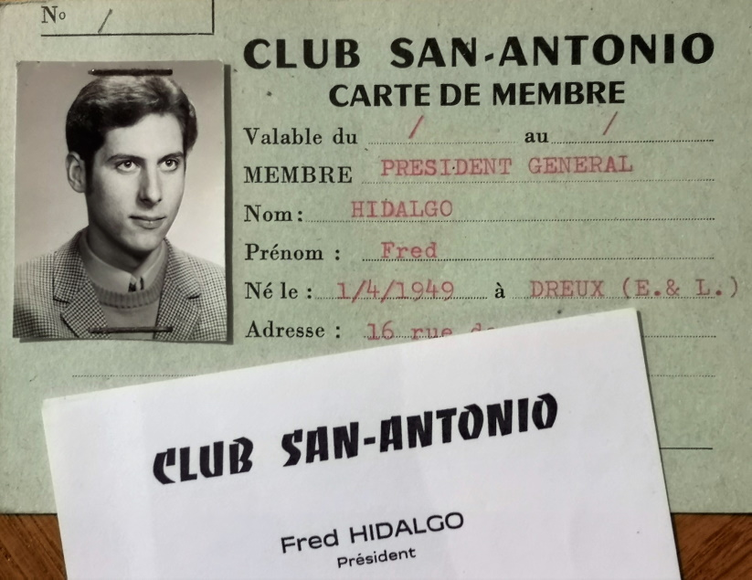 Club SA carte Fred Hidalgo