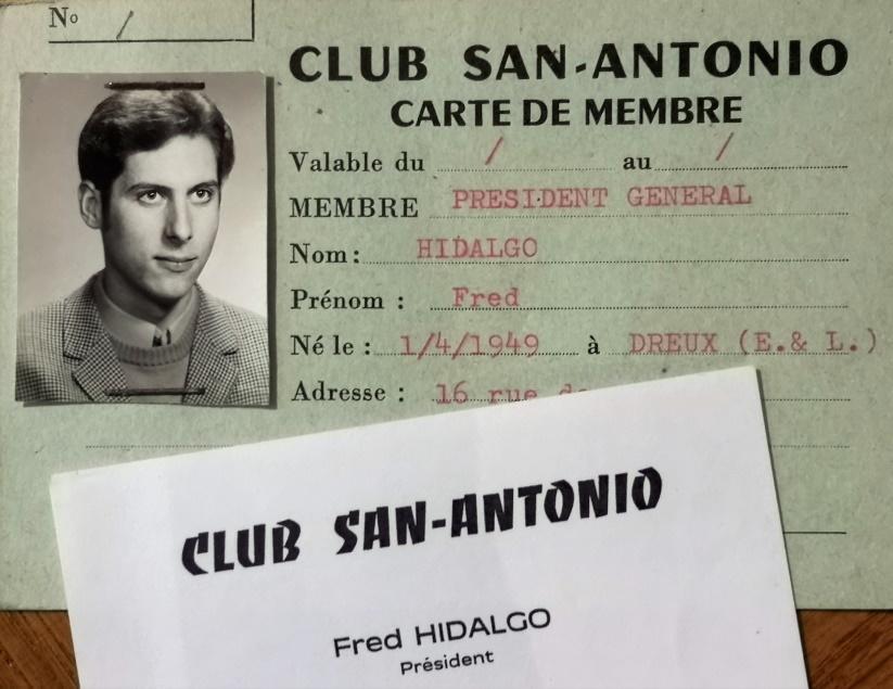 Club SA carte Fred Hidalgo