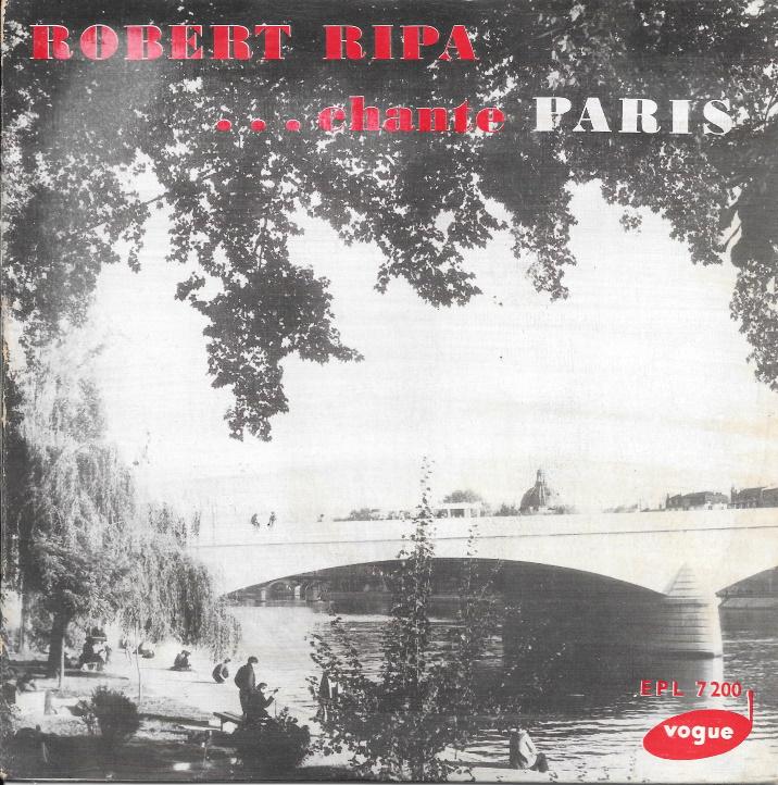 Disque Robert Ripa chante Paris