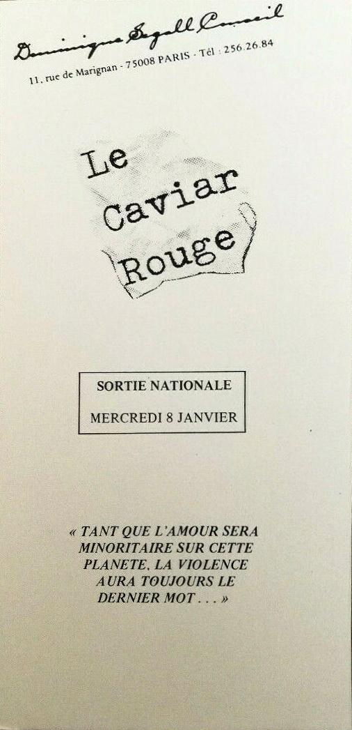 Le caviar rouge carton invitation
