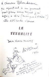 Dedicace Blondeau la sexualité