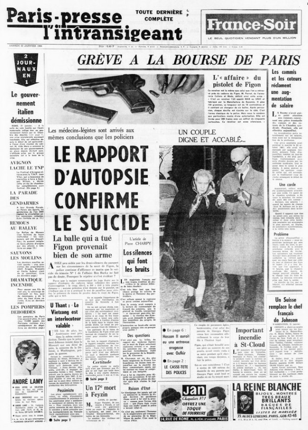 Paris presse l'intransigeant 22 janvier 1966