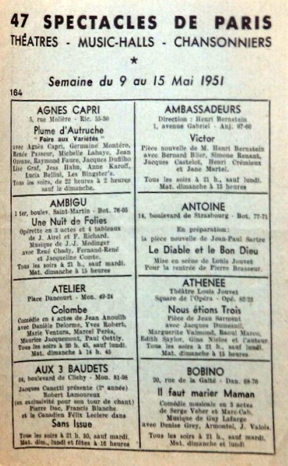 47 Spectacles de Paris n°184