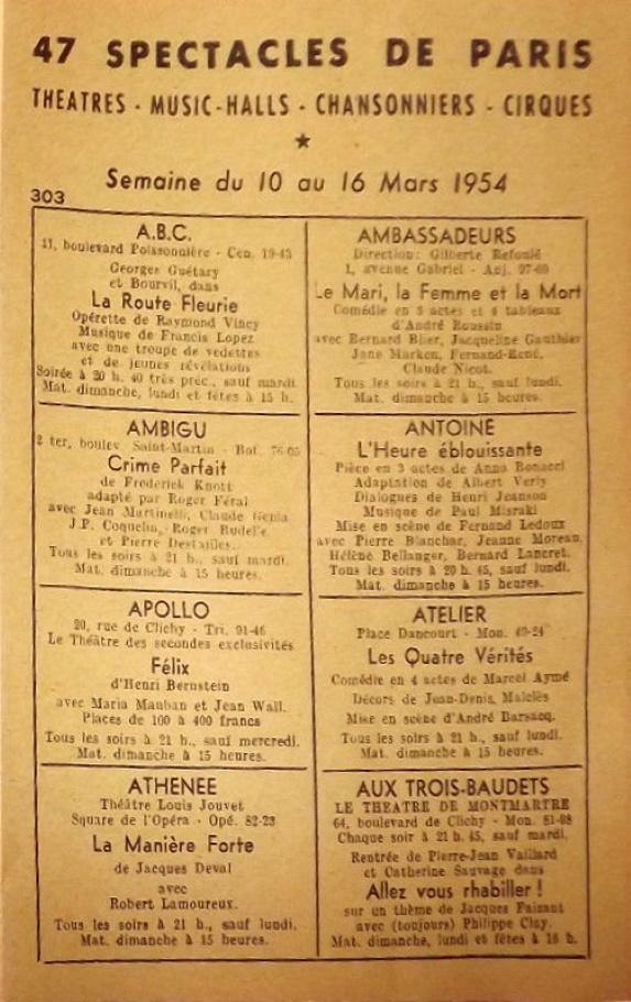 47 Spectacles de Paris n°303