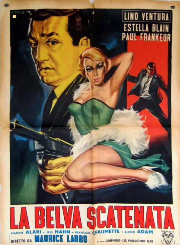 Affiche italienne 1958 Le fauve est lâché 100 sur 140 cm