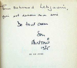 Dédicace Mohamed Lebjaoui Je le jure