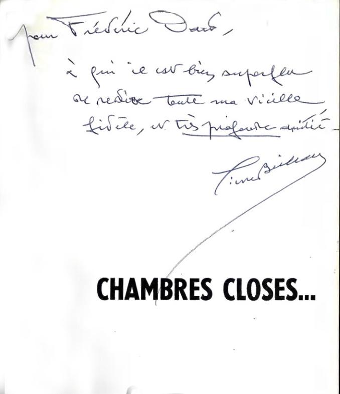 Envoi Pierre Boileau chambres closes