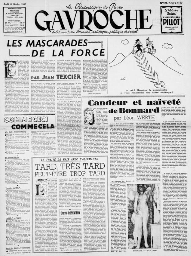 Gavroche 6 février 1947