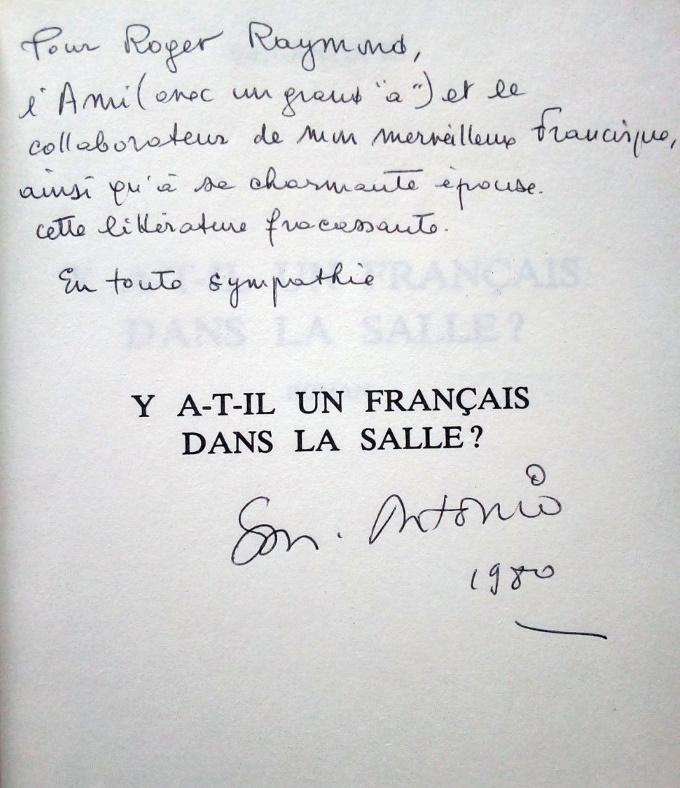 Dédicace Roger Raymond San_A_Y_a-t_il_un_Français_dans_la_Salle