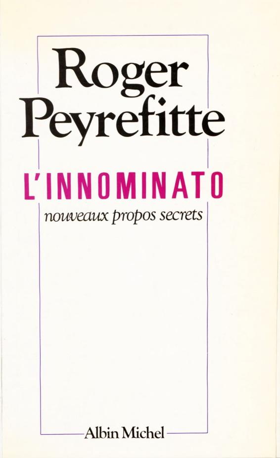 L'Innominato_ _nouveaux_propos_secrets_[...]Peyrefitte_Roger_bpt6k4807459w couverture